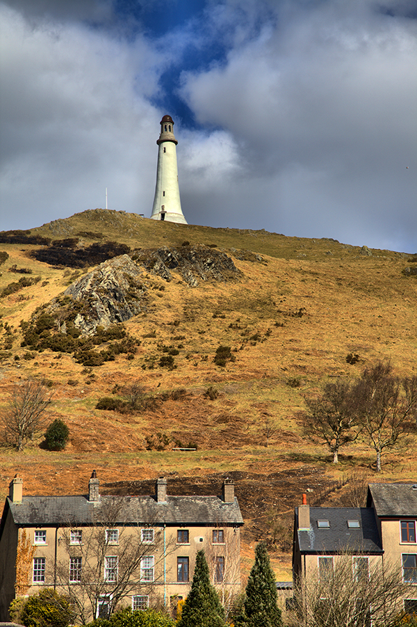 View of Hoad Monument from Ulverston Town