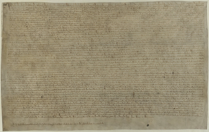 Image of the Magna Carta care of the British Library