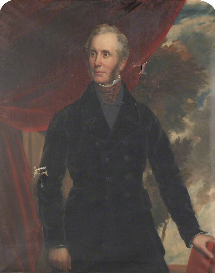Portrait painting of Thomas Henry Graham of Edmond Castle (1793-1881), High Sheriff of Cumberland (1824)