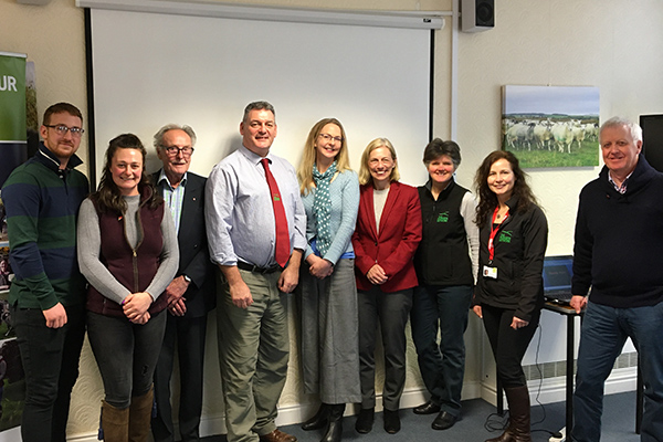 News & Events 2020/2021. High Sheriff Julie Barton with the Farmers Network