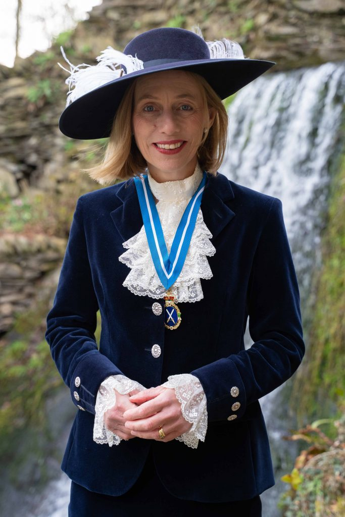 High Sheriff Cumbria Julie Barton in her court dress