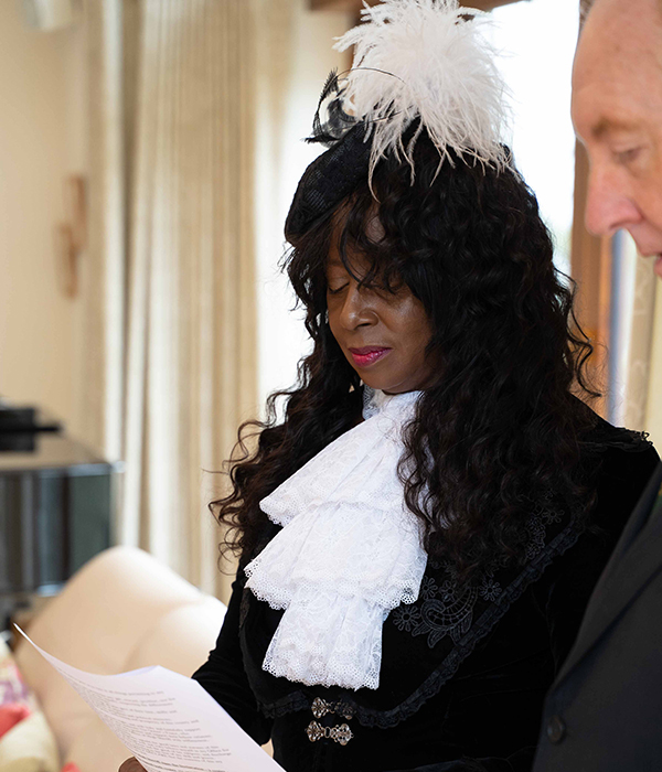 Marcia Reid-Fotheringham at the installation of High Sheriff of Cumbria