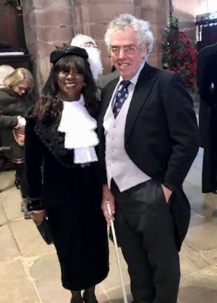 Marcia Reid Fotheringham, High Sheriff of Cumbria 2019/2020 & Undersheriff Tim Cartmell