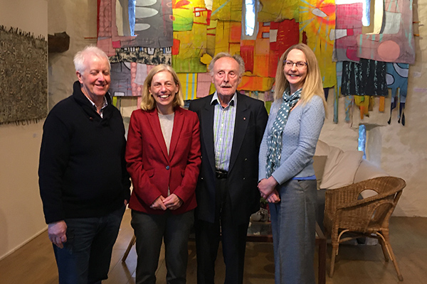 High Sheriff Julie Barton visiting Upfront Gallery