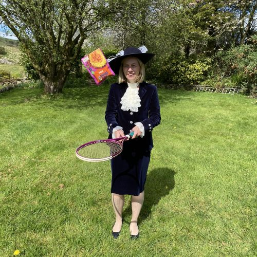 High Sheriff Julie Barton films her contribution to the Foodbank Challenge