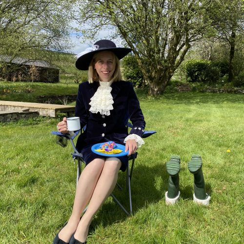 High Sheriff Julie Barton ready to attend a virtual camp with Girguiding Cumbria South