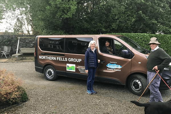 The wonderful Northern Fells Group and their volunteer driven bus (with the Under Sheriff)