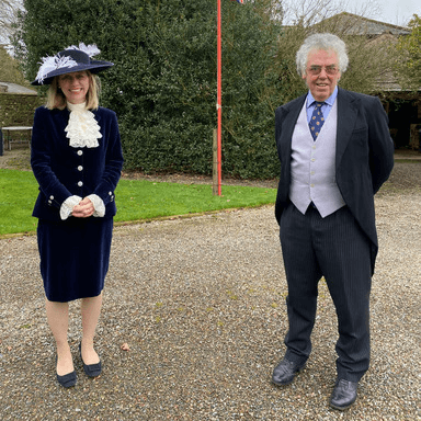 Julie Barton High Sheriff in court dress and Tim Cartmell Undersheriff