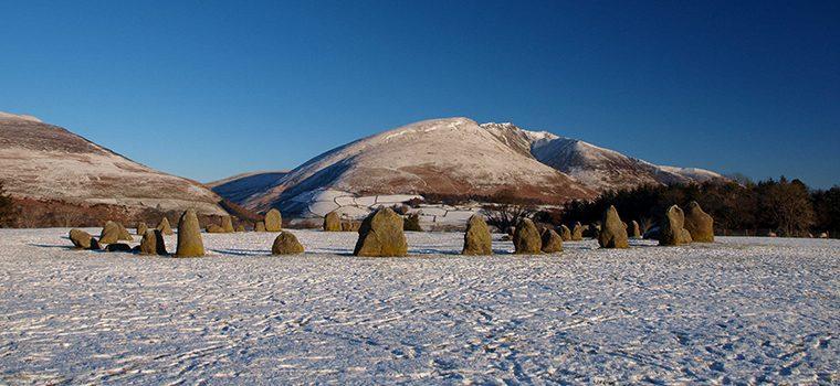 Castlerigg standing stones in the snow